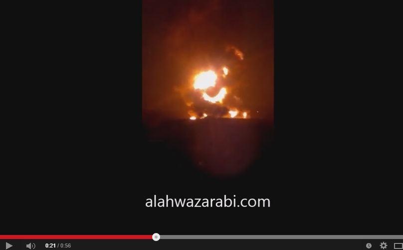 شاهد الفيديو ..  ميليشيات أحوازية تنفذ عمليات مسلحة ضد أهداف إيرانية