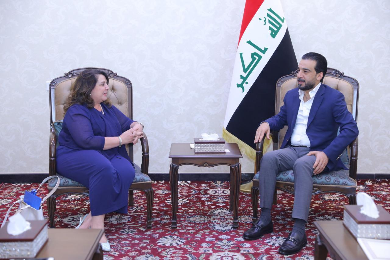 Halabousi discusses with UN official humanitarian efforts and reconstruction Image