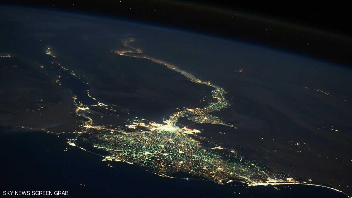 صورة فضائية تظهر جمال مصر ودلتا النيل بشكل مبهر