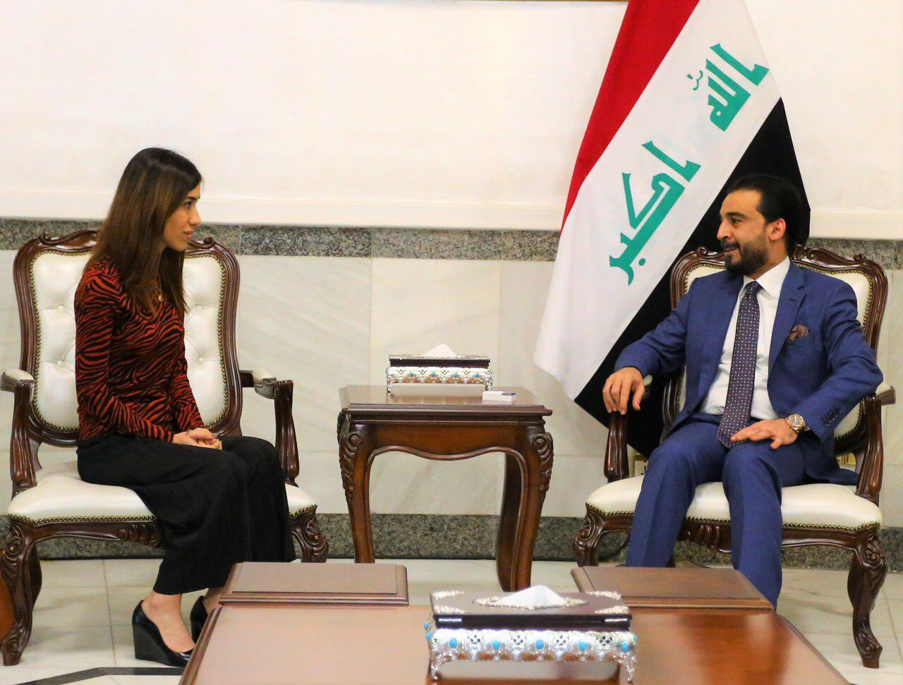 رئيس مجلس النواب محمد الحلبوسي يستقبل الناشطة نادية مراد