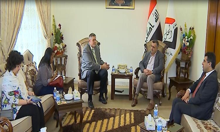 رئيس حزب الحل يلتقي كوبينتش وييبحثان ابرز التطورات على الساحة العراقية