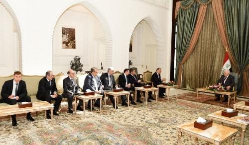 الرئيس معصوم يؤكد للمبعوث الروسي أهمية التعاون المعلوماتي والاستخباري مع العراق في حربه ضد ا