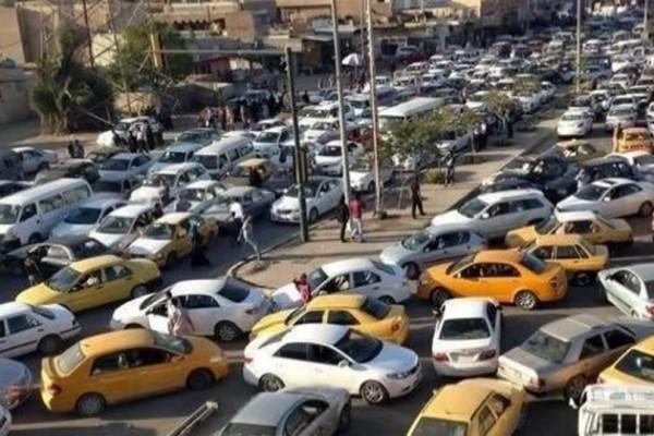 الموقف المروري في شوارع بغداد