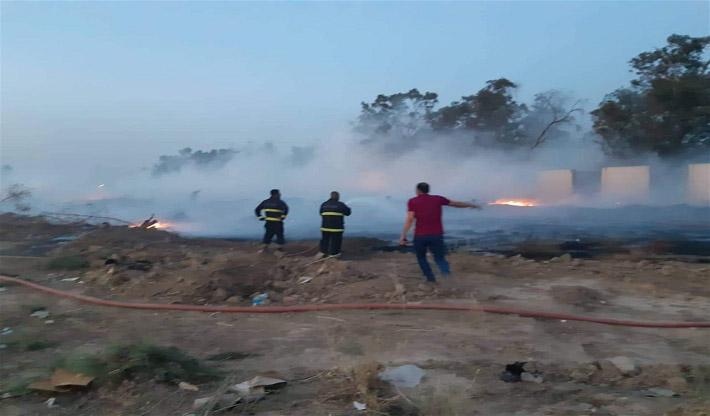 اخماد حريق اندلع بمدينة العاب واسط