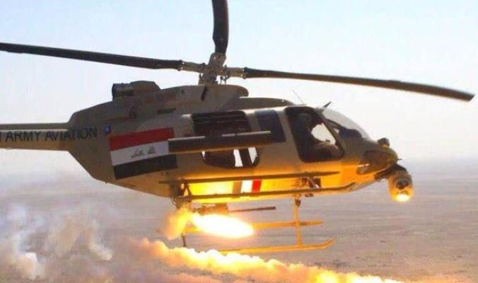 القوة الجوية تدمر مخزناً للاسلحة والأعتدة لعصابات داعش في قضاء الحويجة