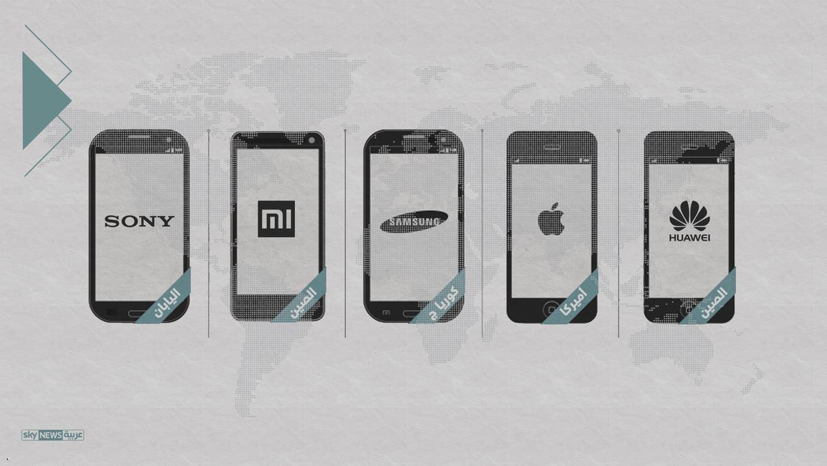 10 شركات هواتفها الأكثر انتشار بالعالم