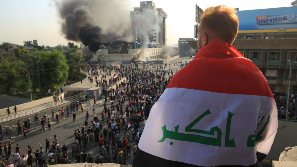 الموقف الأمني في ساحات التظاهر ببغداد والبصرة والناصرية