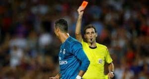 ريال مدريد يطعن بقرار طرد رونالدو