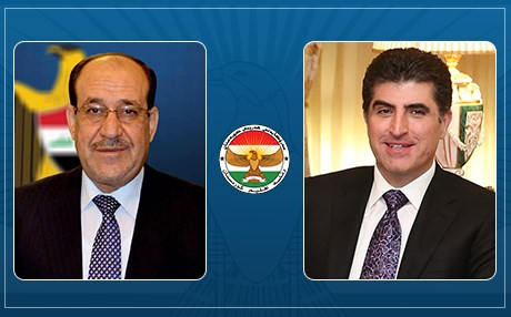 Maliki to Barzani: Your election to the presidency of the region a step on the road to good relations between Baghdad and Arbil Image