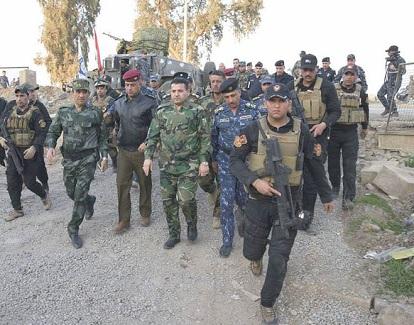 الأعرجي يصل ايمن الموصل للاطلاع على العمليات العسكرية الجارية