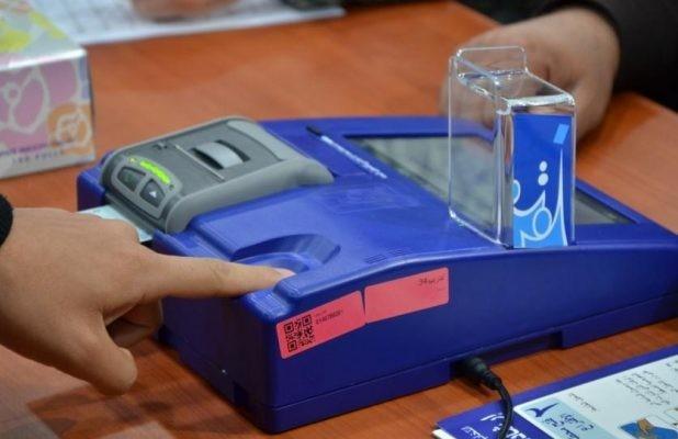 خلل في احدى أجهزة التصويت الالكتروني في تكريت يؤخر عملية الاقتراع