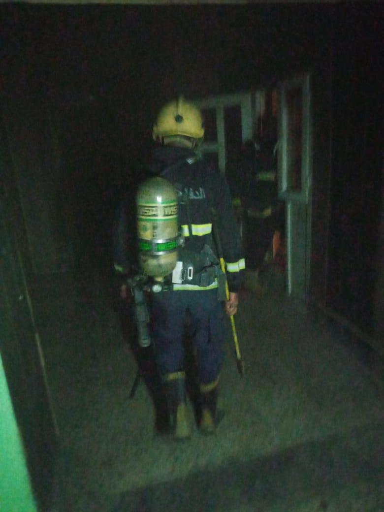 فرق الدفاع المدني تخمد حريقاً اندلع في اقسام داخلية لجامعة واسط