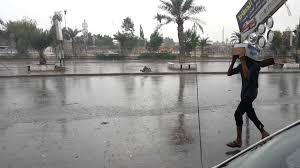 الأنواء الجوية:  تساقط امطار خفيفة رعدية على البلاد