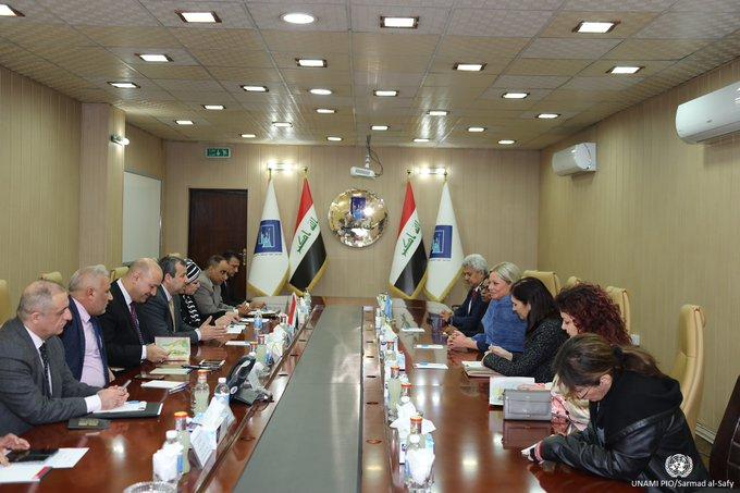بلاسخارت تؤكد دعم الامم المتحدة لاجراء انتخابات حرة ونزيهة في العراق