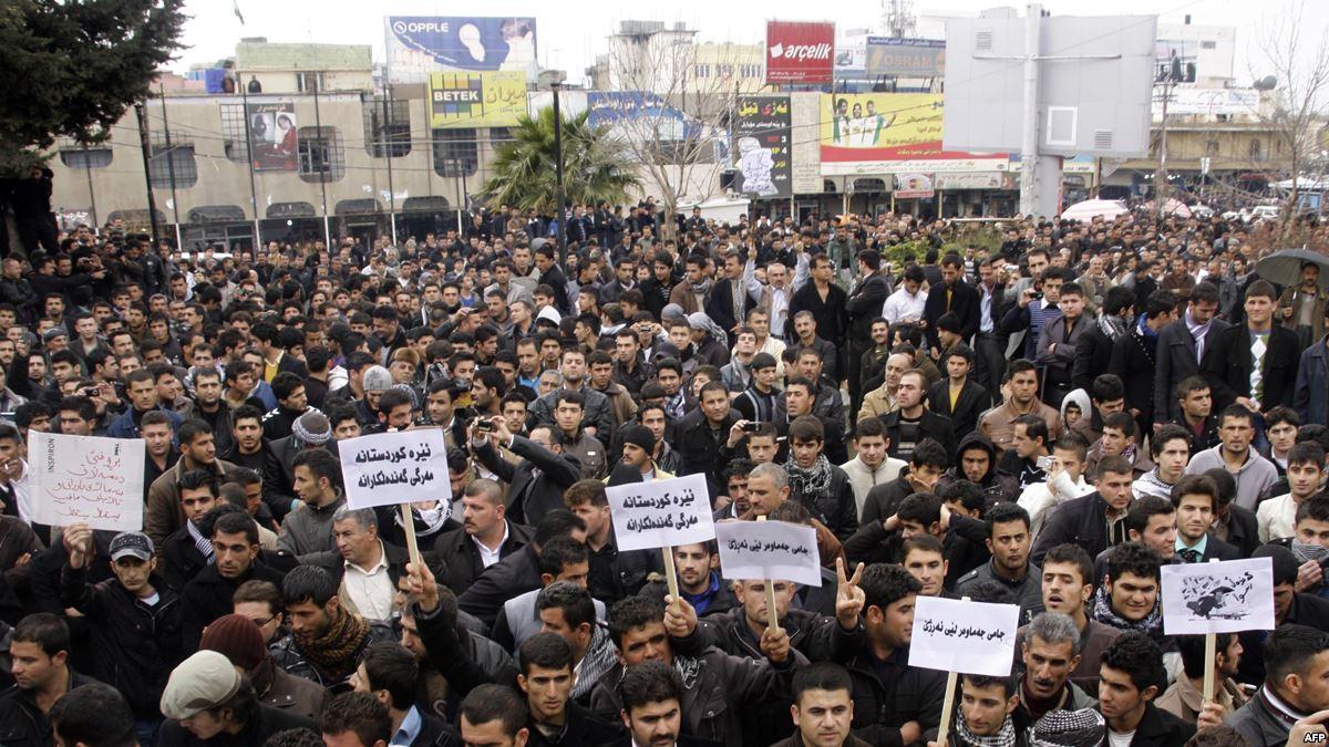 في يومها الثالث  ..  انطلاق مظاهرات بقضاء رانية وسط انتشار مني مكثف