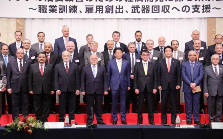 العبادي ونظيره الياباني يفتتحان مؤتمر طوكيو بشأن خلق فرص عمل