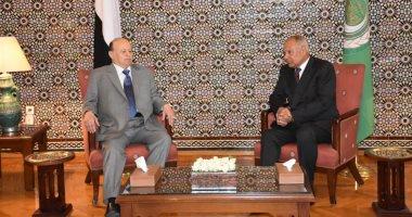مباحثات بين أمين عام الجامعة العربية والرئيس اليمنى