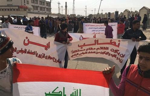 أهالي الزبير يتظاهرون للمطالبة بانتخاب قائم مقام جديد للقضاء من خارج المجلس المحلي