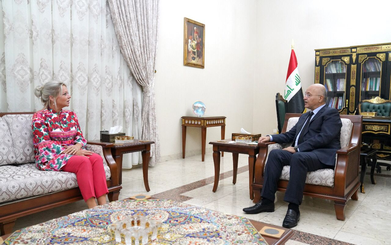 صالح يلتقي بلاسخارت ويجدد ضرورة توفير اقصى درجات النزاهة بالانتخابات