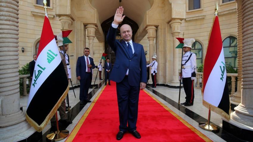 Washington received Barham Salih a copy of the US sanctions resolution on Iraq Image