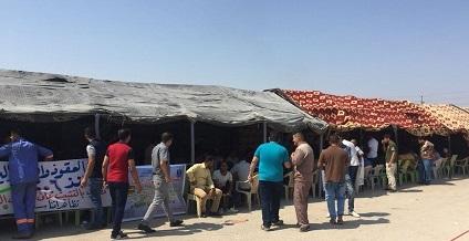 تنظيم اعتصام للاجراء والمتعاقدين في محطة كهرباء النجيبية بالبصرة