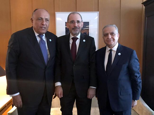 وزير الخارجية يجتمع مع نظيريه الأردني والمصري تمهيداً لإبرام شراكات اقتصاديّة واستراتيجية