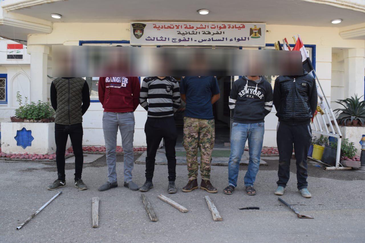 اعتقال مطلوبين ومخالفين ومخمورين ومتسولين في بغداد