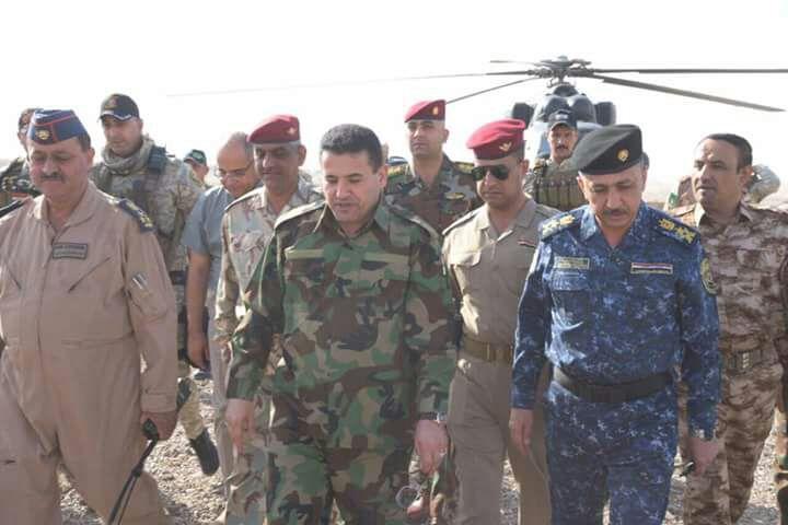 وزير الداخلية يتفقد القطعات الأمنية والعسكرية في أيسر الشرقاط