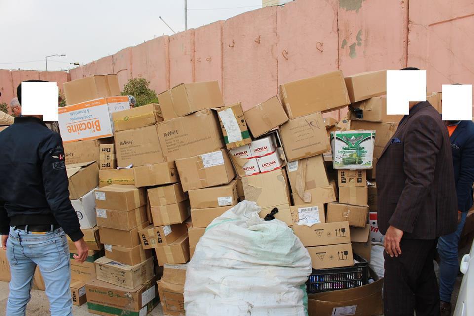 بالصور ..  ضبط اطنان من الأدوية المنتهية الصلاحية في اطراف بغداد