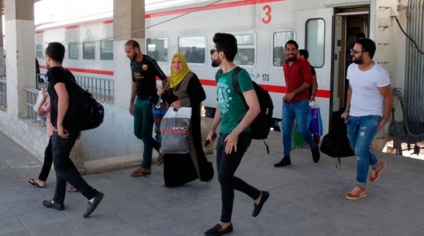 """مواطنون يرتادون قطار """"فلوجة – بغداد"""" يعربون لـ""""الإخبارية"""" عن ارتياحهم ويطمحون للأفضل"""