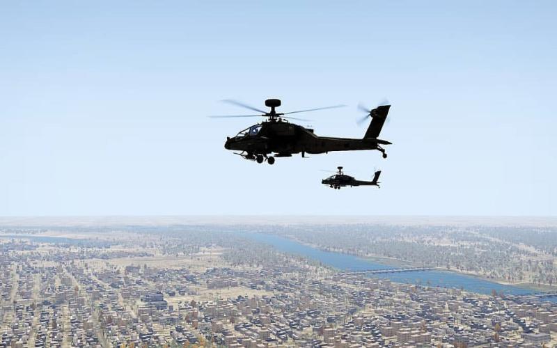 طائرات الاباتشي تحلق بشكل مكثف فوق معسكر التاجي