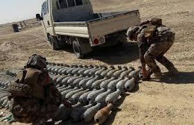 العثور على 55 مقذوفا والقبض على خمسة مطلوبين في نينوى وديالى