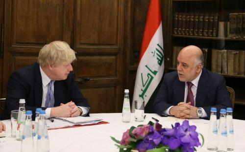 العبادي يلتقي جونسون لبحث زيادة دعم بريطانيا للقوات العراقية في ميونخ