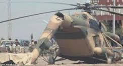 سقوط مروحية بسبب خلل فنى قرب قضاء بيجي شمال بغداد