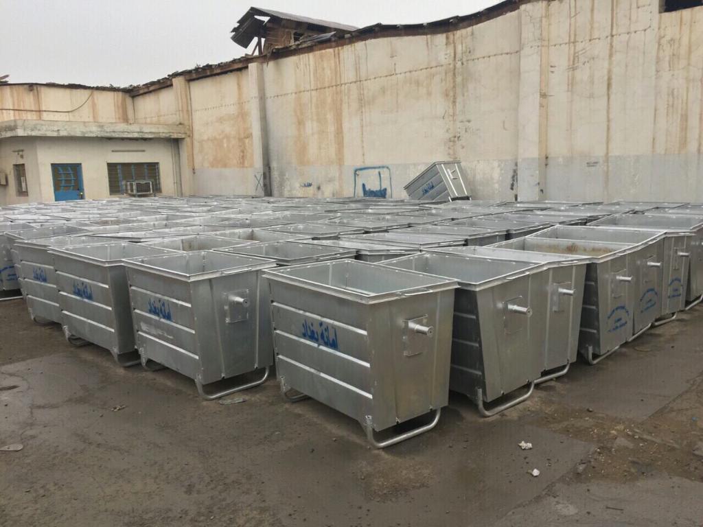 امانة بغداد تعلن تصنيع 1200 حاوية في 50 يوماً