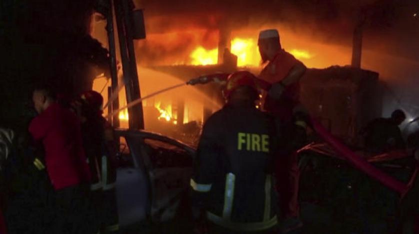 مقتل 56 في حريق بعاصمة بنغلادش