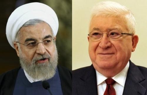 معصوم يهنىء الرئيس الايراني حسن روحاني المنتخب لولاية ثانية