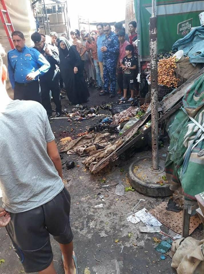 حصيلة تفجير سوق مريدي ترتفع الى قتيلين و 4 جرحى