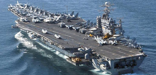US aircraft carrier Roosevelt directed to the Middle East to confront Daash