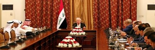 معصوم يشيد بتضامن الكويت الثابت والمبكر مع العراق في حربه ضد الإرهاب
