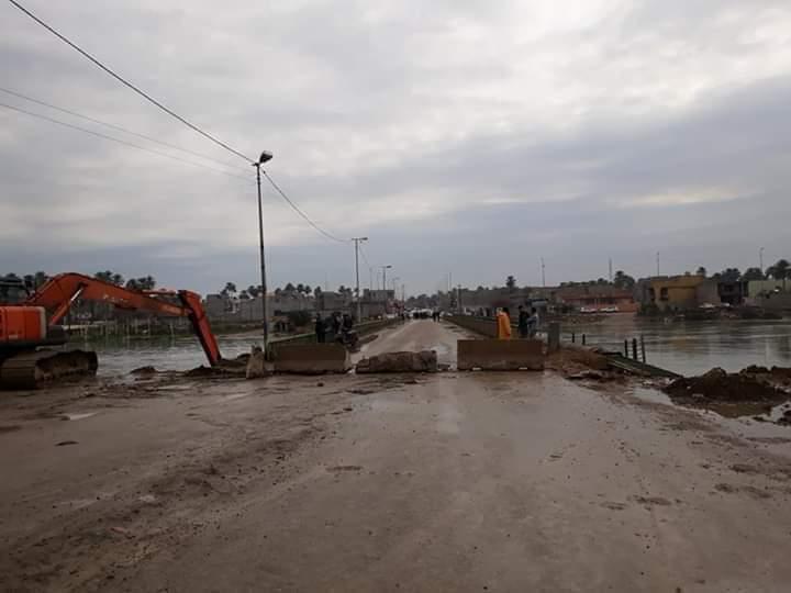 قطع جسر الشريف نهائياً في بعقوبة بسبب المخاوف من سقوطه