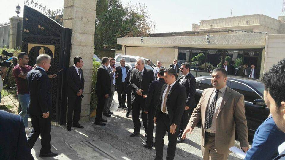 (بالصور) الوفد الكردي يصل الى بغداد