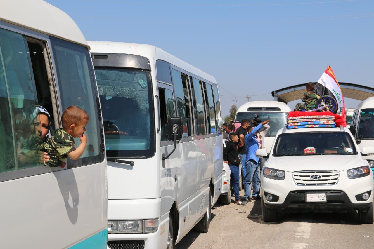 عودة 320 أسرة نازحة  في الأنبار وصلاح الدين