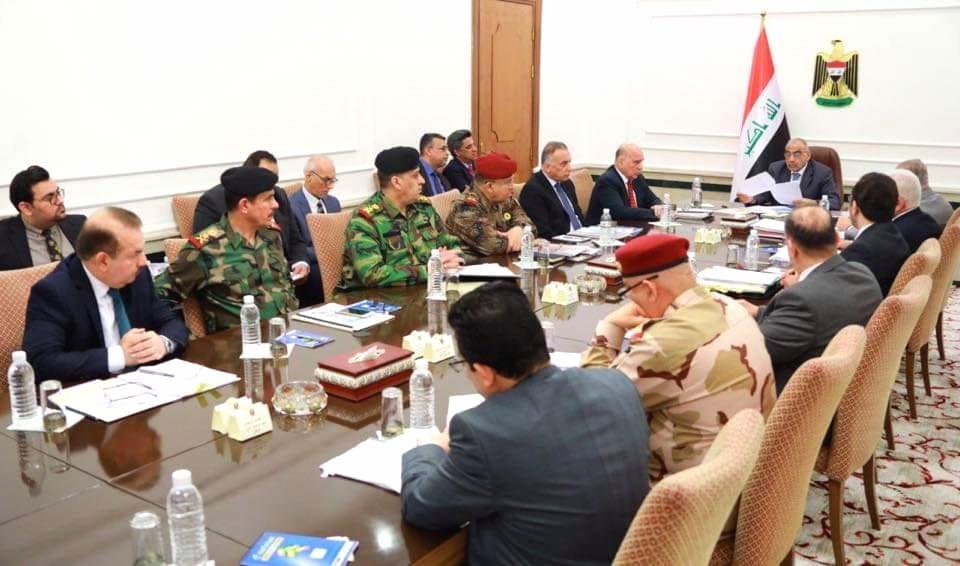 مجلس الأمن الوطني يناقش الاجراءات المتخذة والجهد الاستخباري في الحدود السورية