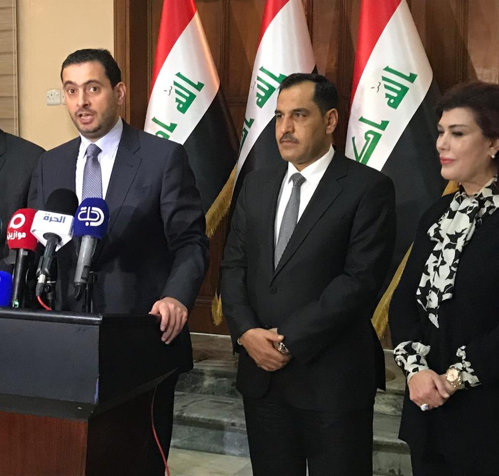 وزير الصناعة الاردني يصل بغداد ويعقد مؤتمرا مع نظيره العراقي