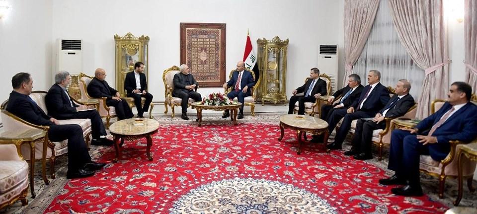 رئيس الجمهورية لظريف:  علينا التهدئة واعتماد الحوار من اجل السلام في المنطقة