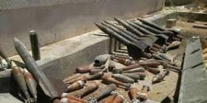العثور على عبوات ناسفة ومساطر تفجير وقنابر هاون في محافظة نينوى