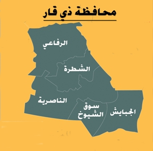 تظاهرة لاهالي الدواية تطالب باقالة مدراء دوائر خدمية في ذي قار