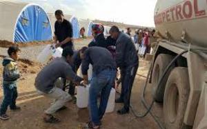 توزيع نحو مليوني لتر من النفط الابيض على النازحين في الإقليم والقيارة وصلاح الدين