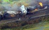 مصرع شخصين واصابة 14 بانحراف قطار ينقل مواد كيميائية في بلجيكا